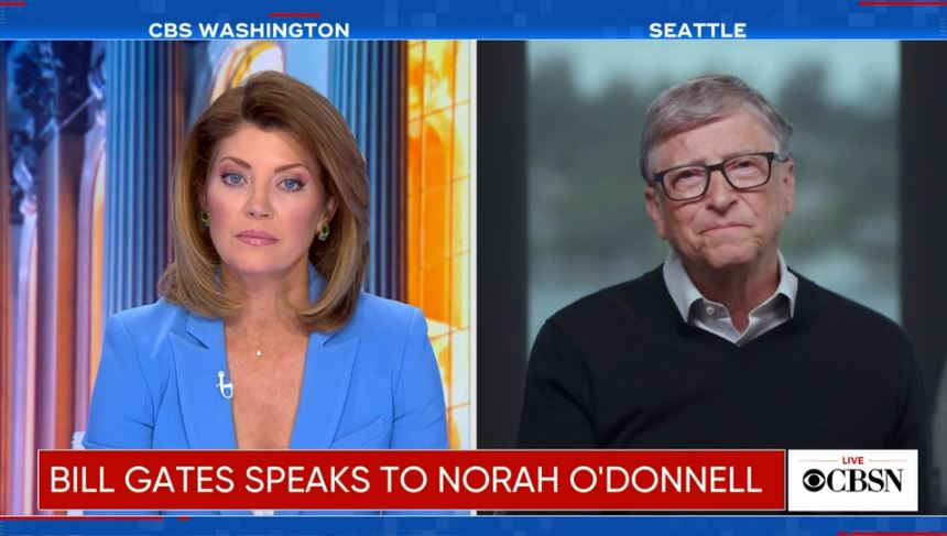 Bill Gates and Norah O'Donell CBS