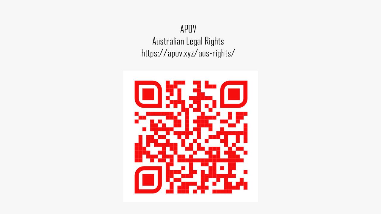 Australian Rights QR Code