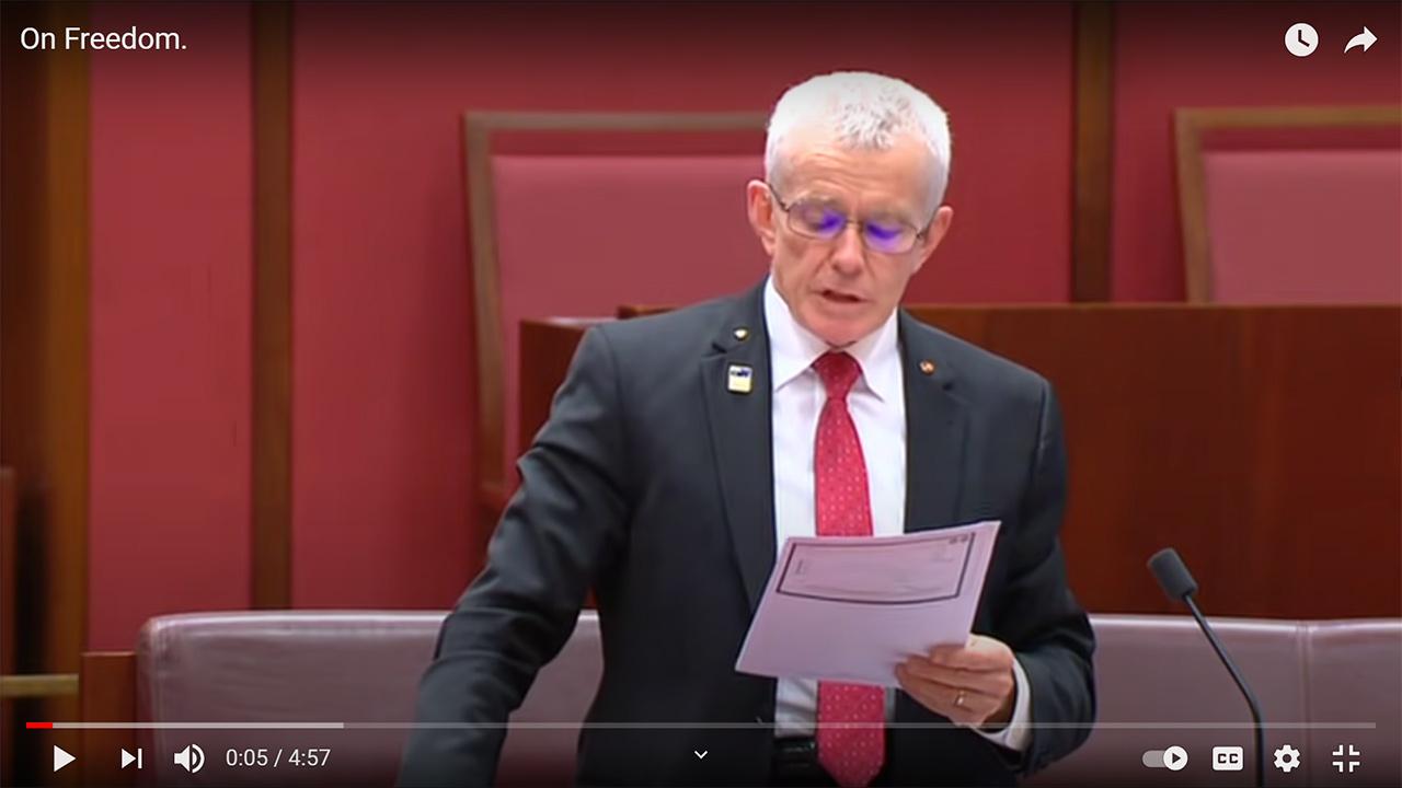 Senator Malcom Roberts
